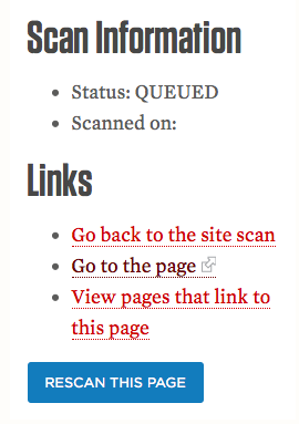 webaudit scan page