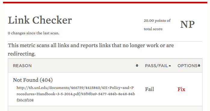 webaudit pass fail