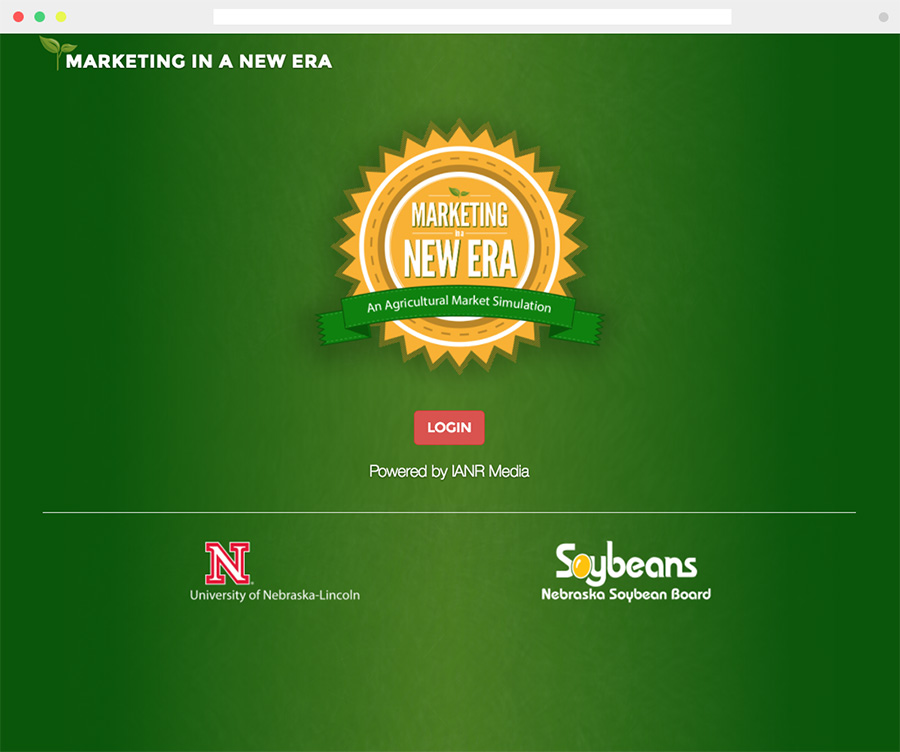 screen capture of the Marketing In a New Era Web app